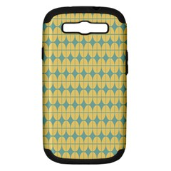 Green Yellow Samsung Galaxy S Iii Hardshell Case (pc+silicone) by AnjaniArt