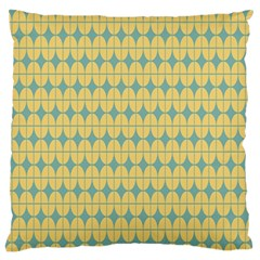 Green Yellow Large Flano Cushion Case (two Sides)