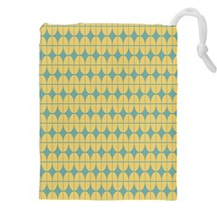 Green Yellow Drawstring Pouches (xxl) by AnjaniArt