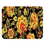 Flower Yellow Green Red Double Sided Flano Blanket (Large)  80 x60 Blanket Front