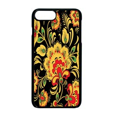 Flower Yellow Green Red Apple Iphone 7 Plus Seamless Case (black)