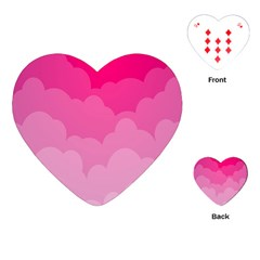 Lines Pink Cloud Playing Cards (heart)
