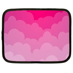 Lines Pink Cloud Netbook Case (xl)  by AnjaniArt
