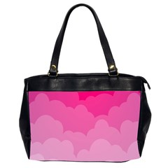 Lines Pink Cloud Office Handbags (2 Sides)