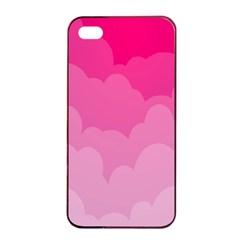 Lines Pink Cloud Apple Iphone 4/4s Seamless Case (black)