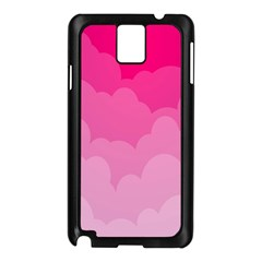 Lines Pink Cloud Samsung Galaxy Note 3 N9005 Case (black) by AnjaniArt