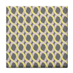 Hearts And Yellow Washi Zigzags Tileable Tile Coasters