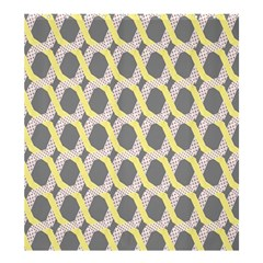Hearts And Yellow Washi Zigzags Tileable Shower Curtain 66  X 72  (large)  by AnjaniArt