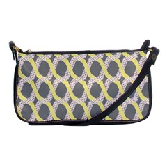 Hearts And Yellow Washi Zigzags Tileable Shoulder Clutch Bags by AnjaniArt