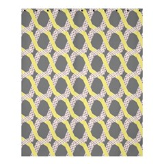 Hearts And Yellow Washi Zigzags Tileable Shower Curtain 60  X 72  (medium)