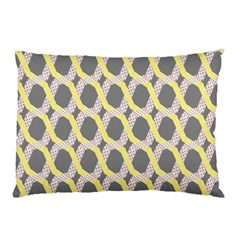 Hearts And Yellow Washi Zigzags Tileable Pillow Case (two Sides) by AnjaniArt