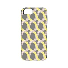 Hearts And Yellow Washi Zigzags Tileable Apple Iphone 5 Classic Hardshell Case (pc+silicone) by AnjaniArt
