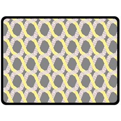 Hearts And Yellow Washi Zigzags Tileable Double Sided Fleece Blanket (large)