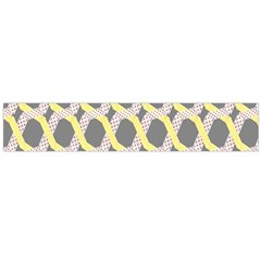 Hearts And Yellow Washi Zigzags Tileable Flano Scarf (large)