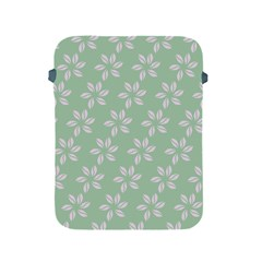 Pink Flowers On Light Green Apple Ipad 2/3/4 Protective Soft Cases