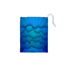 Blue Sky Jpeg Drawstring Pouches (xs)  by AnjaniArt