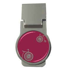 Rose Pink Fushia Money Clips (round)