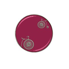 Rose Pink Fushia Hat Clip Ball Marker (10 Pack)
