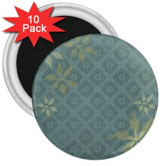 Shadow Flower 3  Magnets (10 Pack)