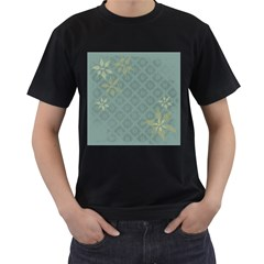 Shadow Flower Men s T Shirt (black) (two Sided)