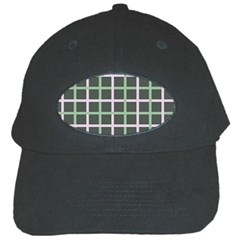 Pink And Green Tiles On Dark Green Black Cap