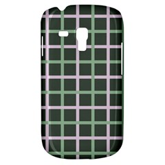 Pink And Green Tiles On Dark Green Galaxy S3 Mini by AnjaniArt