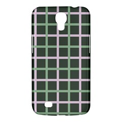 Pink And Green Tiles On Dark Green Samsung Galaxy Mega 6 3  I9200 Hardshell Case by AnjaniArt