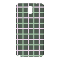 Pink And Green Tiles On Dark Green Samsung Galaxy Note 3 N9005 Hardshell Back Case