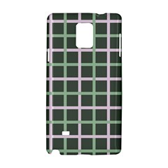 Pink And Green Tiles On Dark Green Samsung Galaxy Note 4 Hardshell Case