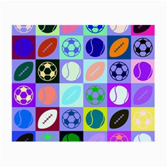Sports Ball Small Glasses Cloth (2-side) by AnjaniArt