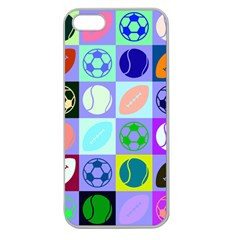 Sports Ball Apple Seamless Iphone 5 Case (clear)