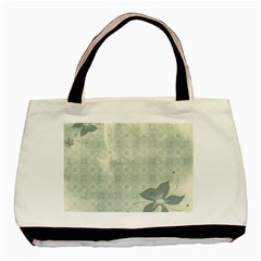 Shadow Flower Gray Basic Tote Bag (two Sides)