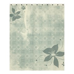Shadow Flower Gray Shower Curtain 60  X 72  (medium)  by AnjaniArt