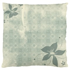 Shadow Flower Gray Large Cushion Case (two Sides)