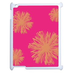 Yellow Flowers On Pink Background Pink Apple Ipad 2 Case (white) by AnjaniArt