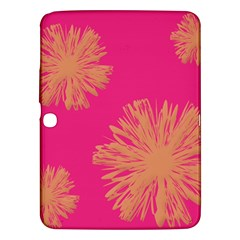 Yellow Flowers On Pink Background Pink Samsung Galaxy Tab 3 (10 1 ) P5200 Hardshell Case