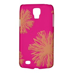 Yellow Flowers On Pink Background Pink Galaxy S4 Active by AnjaniArt