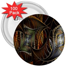 Mosaics Stained Glass 3  Buttons (100 Pack)