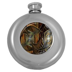 Mosaics Stained Glass Round Hip Flask (5 Oz)