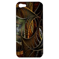 Mosaics Stained Glass Apple Iphone 5 Hardshell Case by AnjaniArt