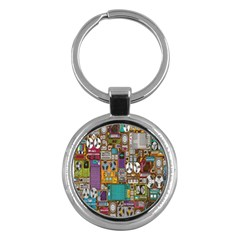 Rol The Film Strip Key Chains (round)  by AnjaniArt