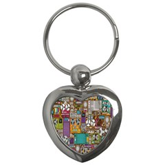 Rol The Film Strip Key Chains (heart)  by AnjaniArt