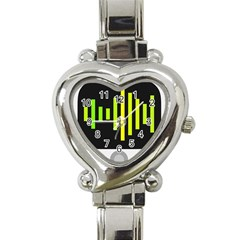 Audiobus Heart Italian Charm Watch by Jojostore