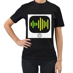 Audiobus Women s T Shirt (black) (two Sided)
