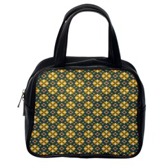 Arabesque Flower Yellow Classic Handbags (one Side)