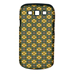 Arabesque Flower Yellow Samsung Galaxy S Iii Classic Hardshell Case (pc+silicone) by Jojostore