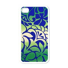 Batik Fabric Flower Apple Iphone 4 Case (white) by Jojostore