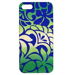 Batik Fabric Flower Apple Iphone 5 Hardshell Case With Stand by Jojostore