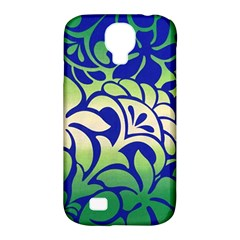 Batik Fabric Flower Samsung Galaxy S4 Classic Hardshell Case (pc+silicone) by Jojostore