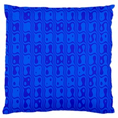 Blue Large Cushion Case (two Sides) by Jojostore